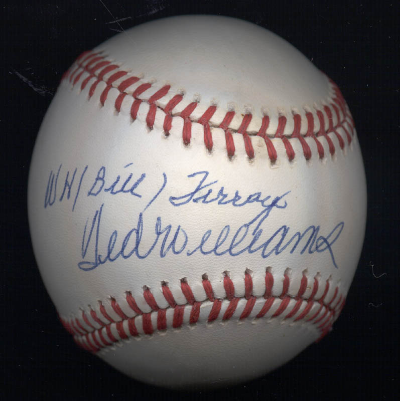 Image 3 for Ted Williams - Autographed Signed Baseball co-signed by: William H. 'Memphis Bill' Terry - HFSID 154612