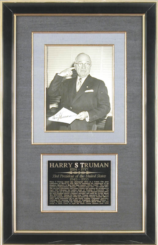 Image 1 for President Harry S Truman - Autographed Inscribed Photograph Circa 1956 - HFSID 154633
