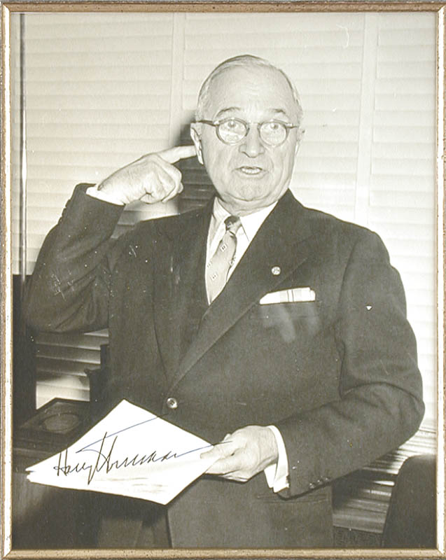 Image 3 for President Harry S Truman - Autographed Inscribed Photograph Circa 1956 - HFSID 154633