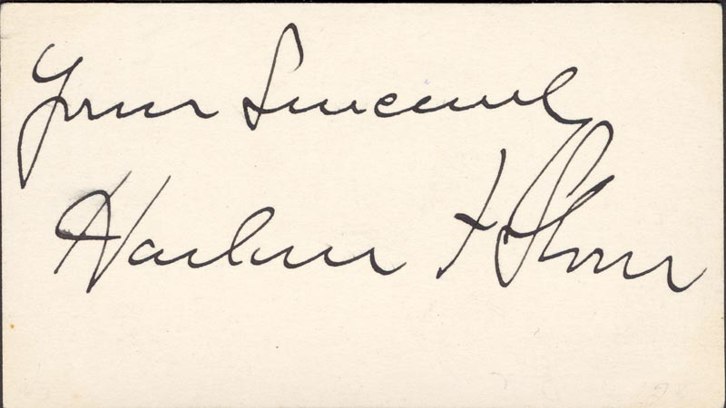 Image 1 for Chief Justice Harlan F. Stone - Autograph Sentiment Signed - HFSID 154667