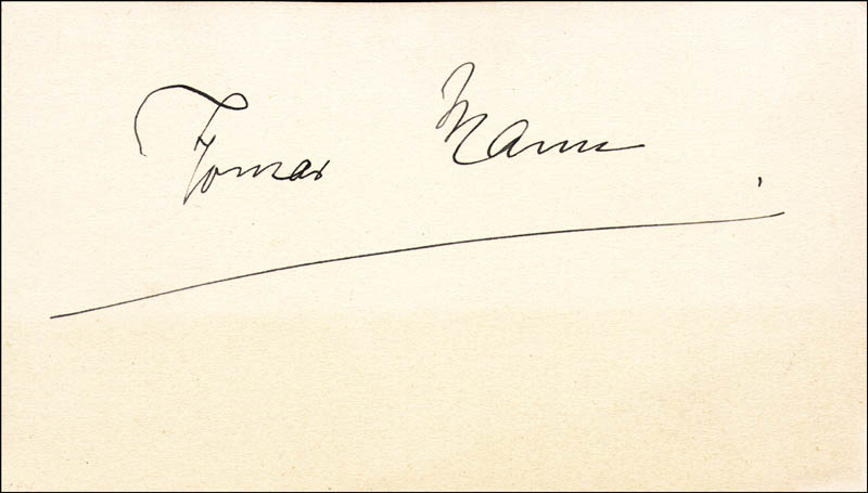 Image 1 for Thomas Mann - Autograph - HFSID 154683
