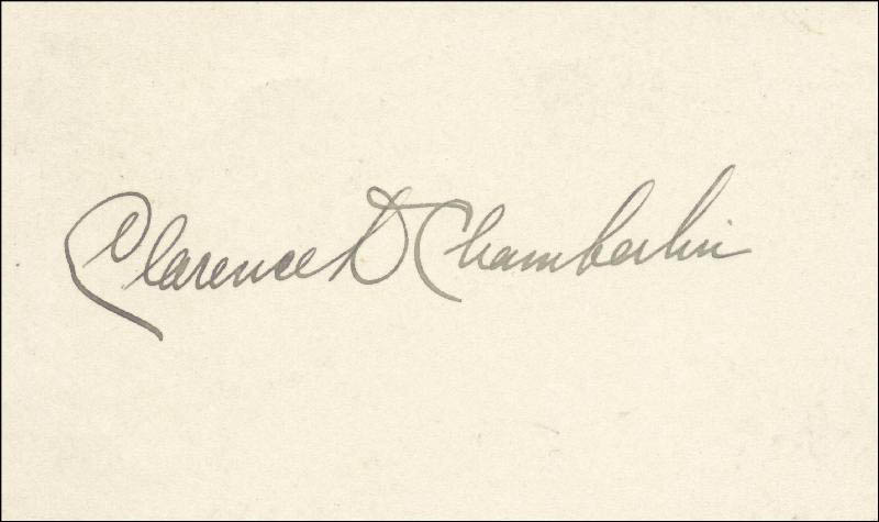 Image 1 for Clarence D. Chamberlin - Autograph - HFSID 154705