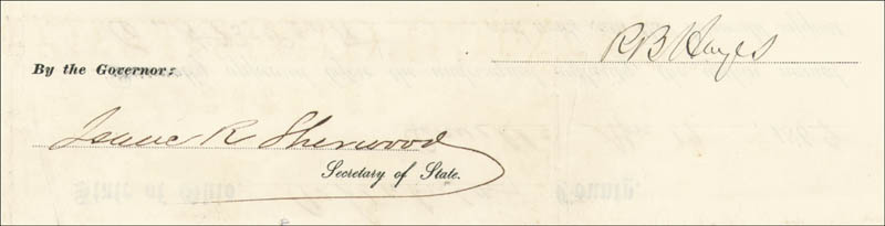 Image 1 for President Rutherford B. Hayes - Civil Appointment Signed 04/13/1869 co-signed by: Isaac R. Sherwood - HFSID 15475
