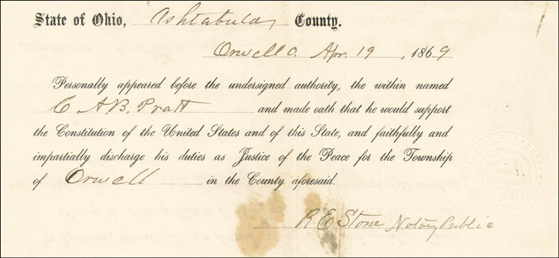 Image 4 for President Rutherford B. Hayes - Civil Appointment Signed 04/13/1869 co-signed by: Isaac R. Sherwood - HFSID 15475