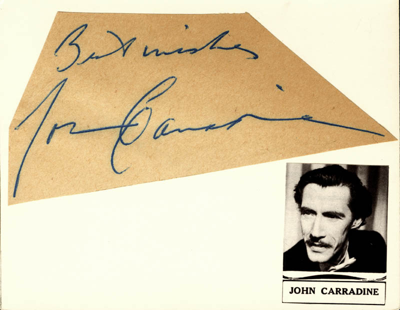 Image 1 for John Carradine - Autograph Sentiment Signed - HFSID 155