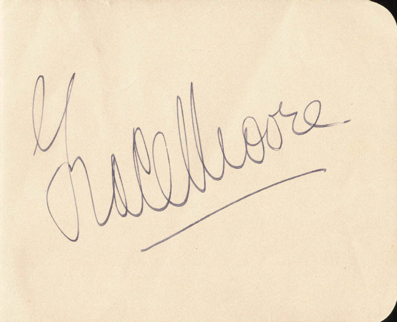 Grace Moore - Autograph co-signed by: Claude Dauphin