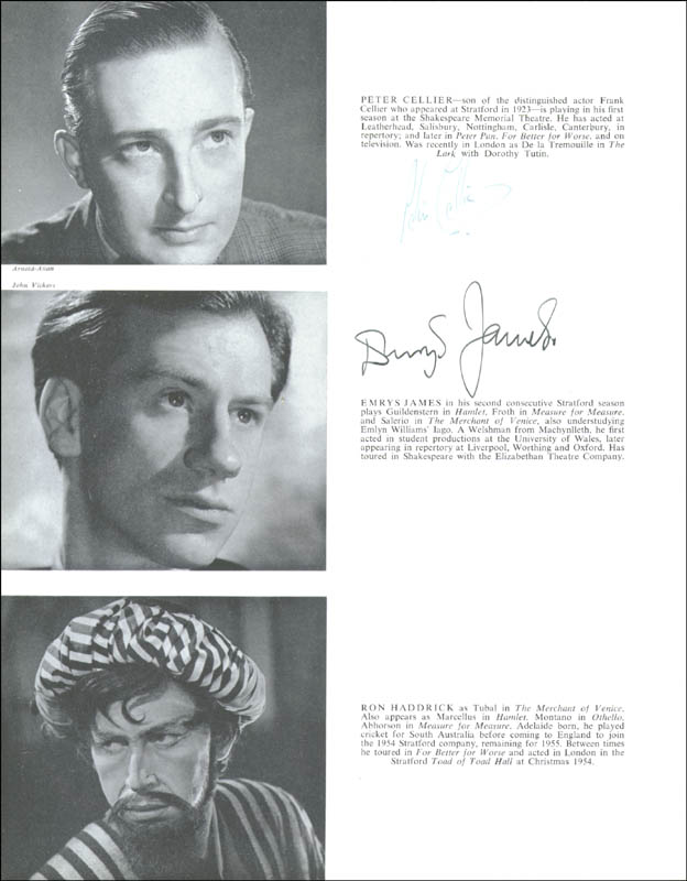 Image 10 for Emlyn Williams - Program Signed Circa 1956 with co-signers - HFSID 155241