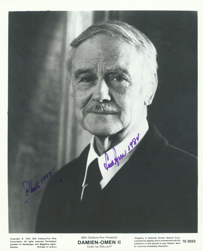 Image 1 for Lew Ayres - Autographed Signed Photograph 1984 - HFSID 155340