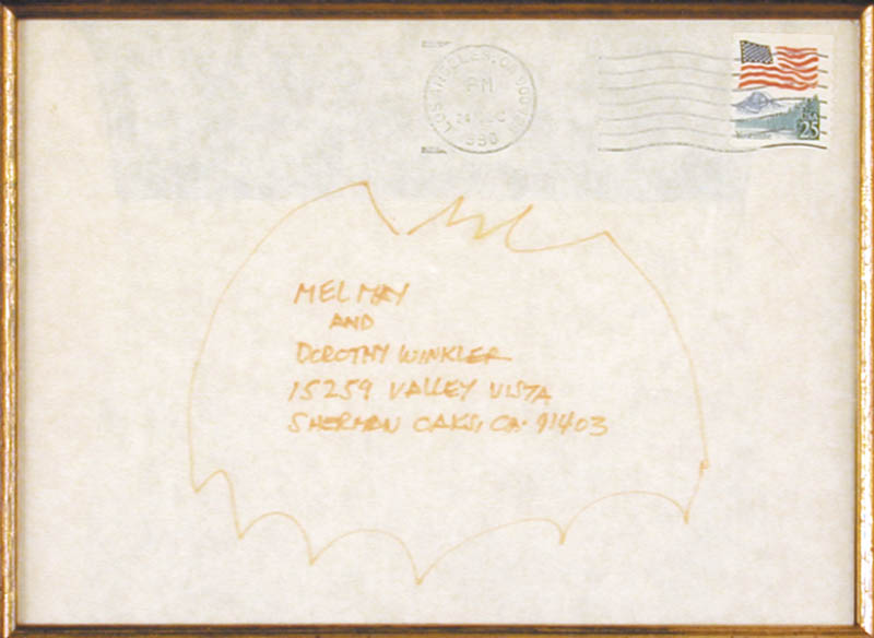 Image 3 for Bob Kane - Autograph Envelope Unsigned 12/24/1990 - HFSID 155489