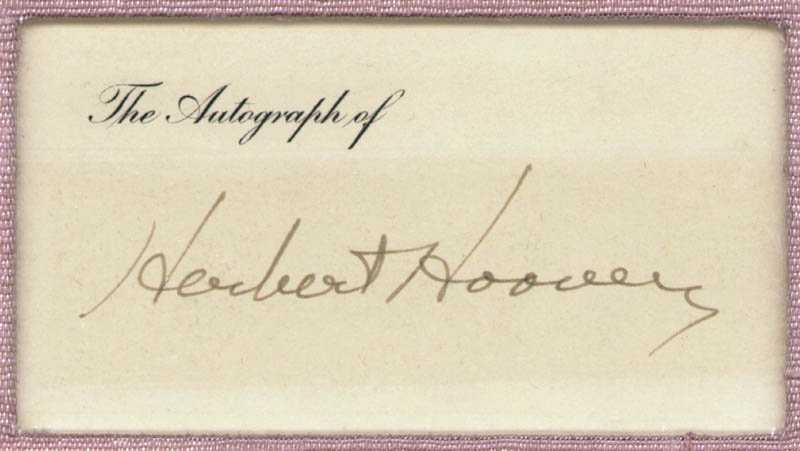 Image 1 for President Herbert Hoover - Printed Card Signed In Ink - HFSID 15556