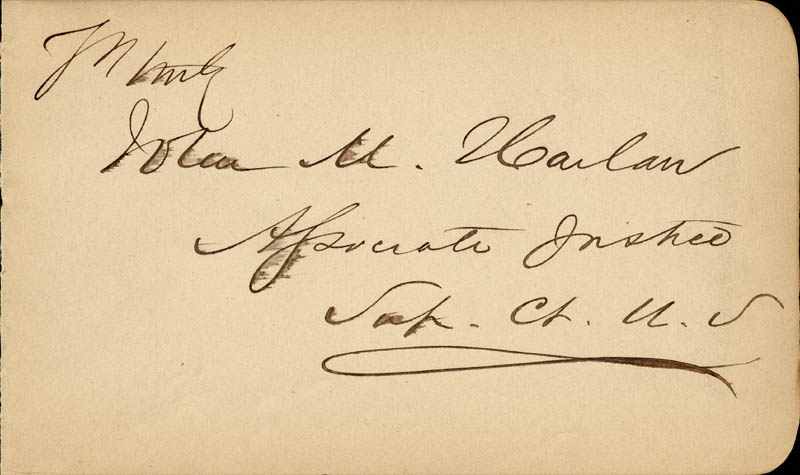 Image 1 for Associate Justice John M. Harlan, Sr. - Autograph - HFSID 155565