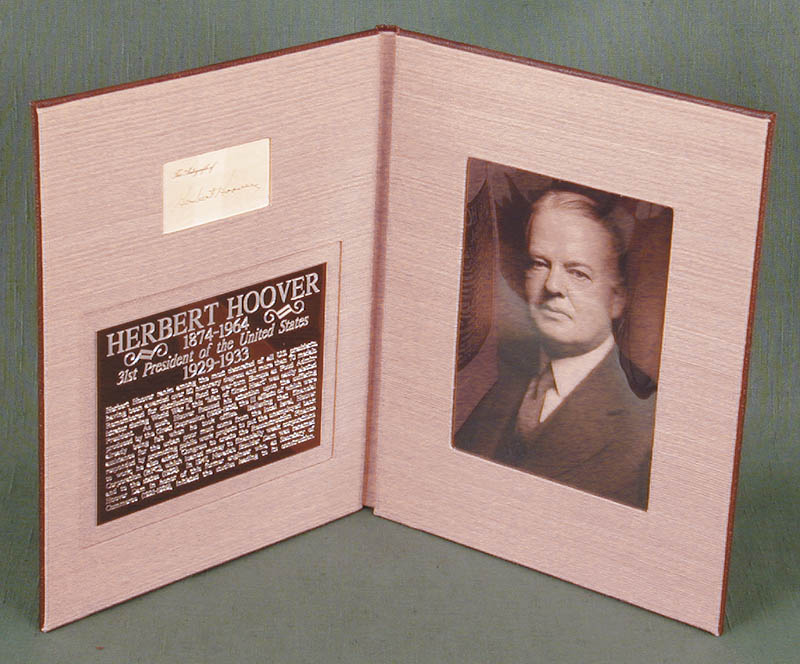 Image 3 for President Herbert Hoover - Printed Card Signed In Ink - HFSID 15556