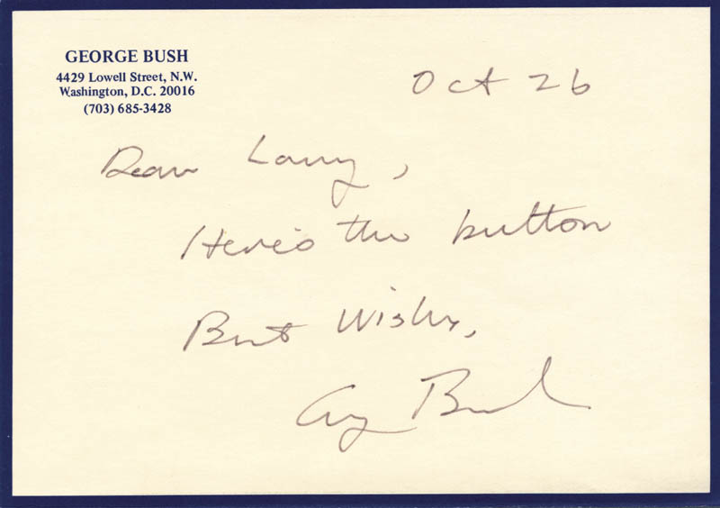 Image 1 for President George H.W. Bush - Autograph Letter Signed 10/26 - HFSID 155579