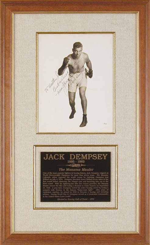 Image 1 for Jack Dempsey - Autographed Inscribed Photograph - HFSID 155602