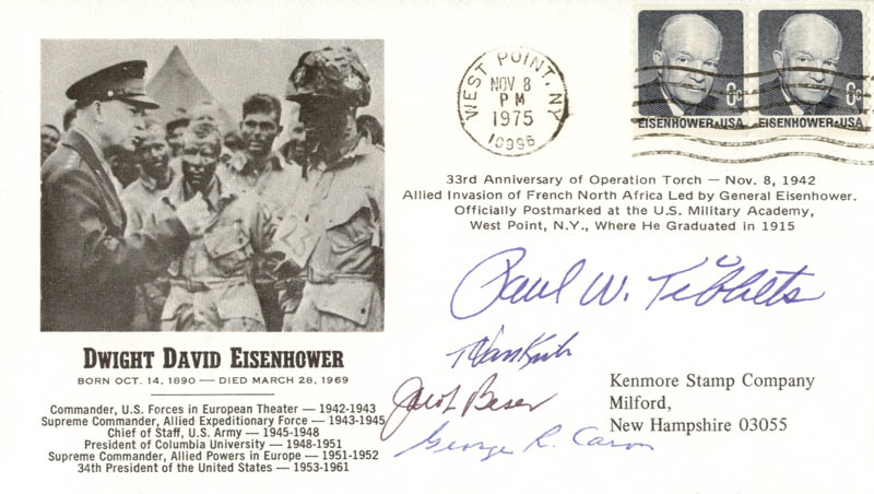 Image 1 for Enola Gay Crew - Commemorative Envelope Signed with co-signers - HFSID 155647