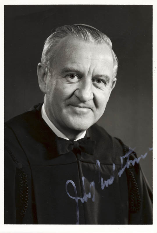 Image 1 for Associate Justice John Paul Stevens - Autographed Signed Photograph - HFSID 155667