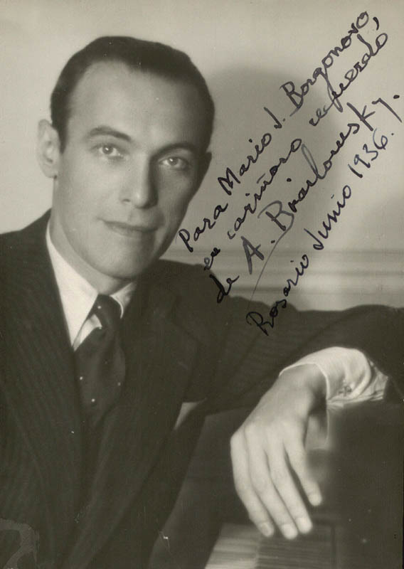 Image 1 for Alexander Brailowsky - Autographed Inscribed Photograph 06/1936 - HFSID 155750