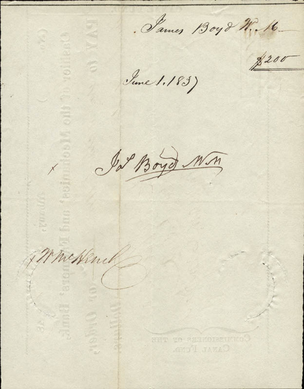 Image 3 for Major General John A. Dix - Autographed Signed Check 06/01/1837 co-signed by: Azariah C. Flagg, William Campbell - HFSID 155771