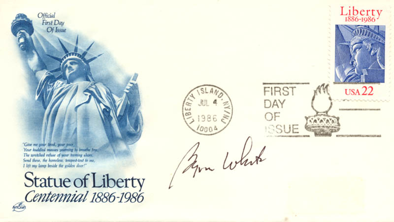 Image 1 for Associate Justice Byron R. White - First Day Cover Signed - HFSID 155887