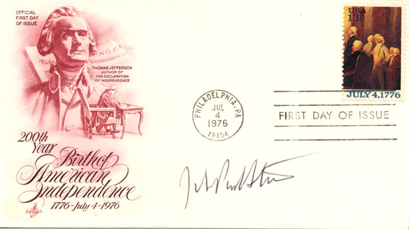 Image 1 for Associate Justice John Paul Stevens - First Day Cover Signed - HFSID 155893