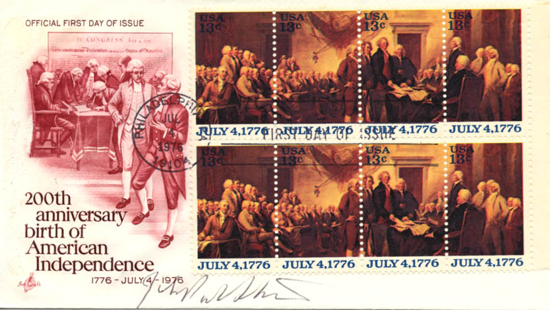 Image 1 for Associate Justice John Paul Stevens - First Day Cover Signed - HFSID 155896