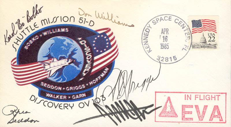 Image 1 for S. David Griggs - Commemorative Envelope Signed with co-signers - HFSID 155962