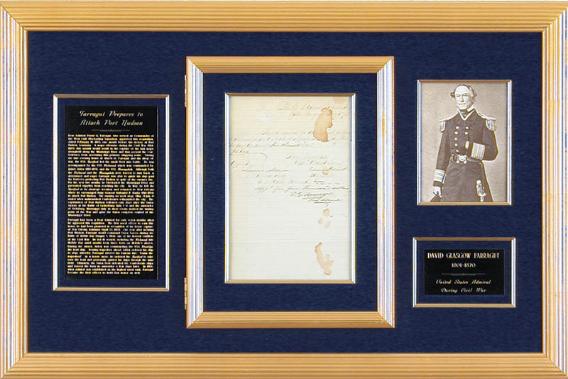 Image 1 for Admiral David G. Farragut - Autograph Endorsement Signed 02/19/1863 - HFSID 156072