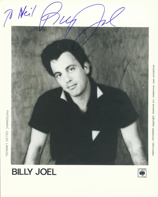 Image 1 for Billy Joel - Autographed Inscribed Photograph - HFSID 156113
