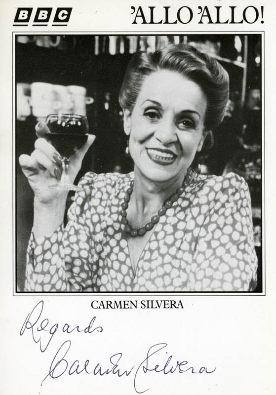 Image 1 for Carmen Silvera - Autograph Sentiment On Printed Photograph Signed - HFSID 156208