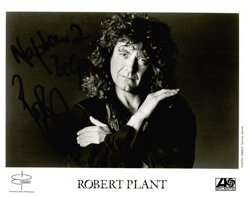 Image 1 for Led Zeppelin (Robert Plant) - Autographed Inscribed Photograph - HFSID 156249