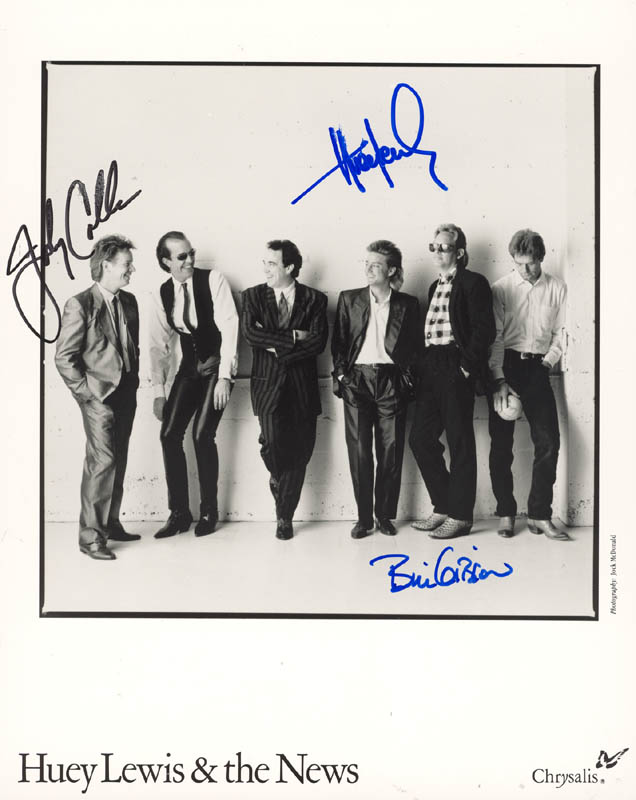 Image 1 for Huey Lewis & The News - Autographed Signed Photograph with co-signers - HFSID 156252