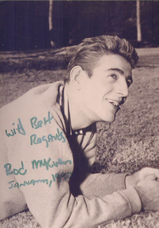 Image 1 for Rod Mckuen - Autographed Signed Photograph 01/1990 - HFSID 156258