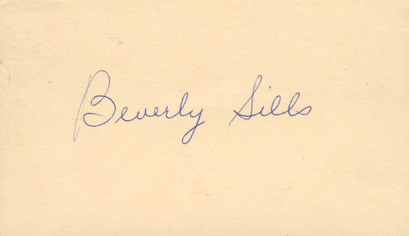 Image 1 for Beverly Sills - Post Card Signed Circa 1959 - HFSID 156362
