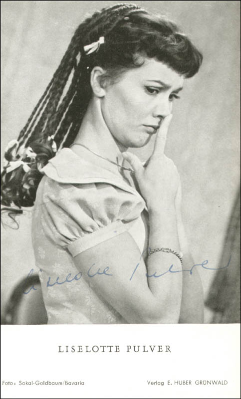 Image 1 for Liselotte Pulver - Autographed Signed Photograph - HFSID 156402
