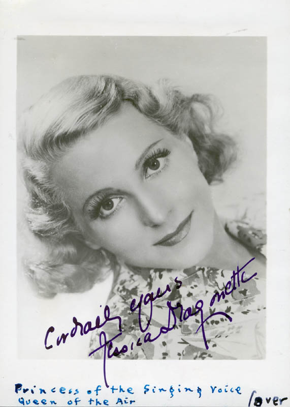 Image 1 for Jessica Dragonette - Autographed Signed Photograph - HFSID 156404