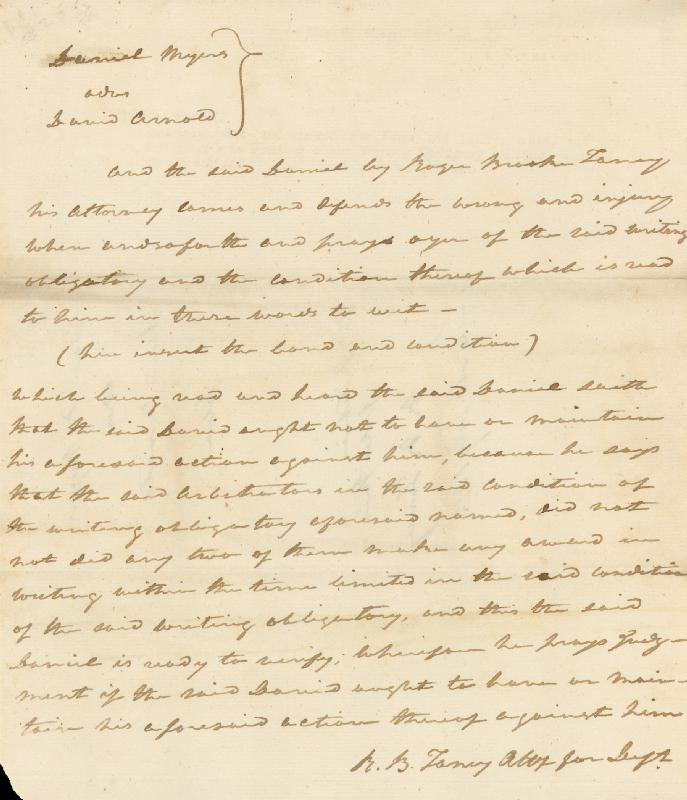 Image 1 for Chief Justice Roger B. Taney - Autograph Document Signed Three Times 07/16/1813 - HFSID 156429