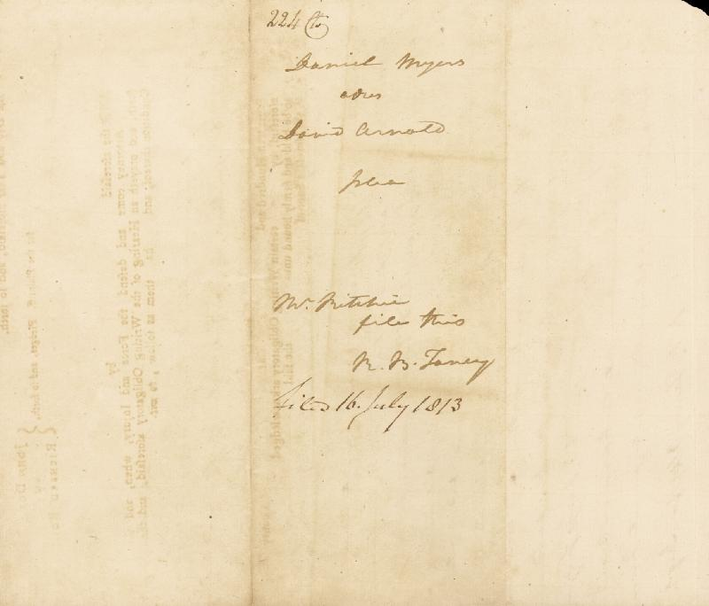 Image 3 for Chief Justice Roger B. Taney - Autograph Document Signed Three Times 07/16/1813 - HFSID 156429