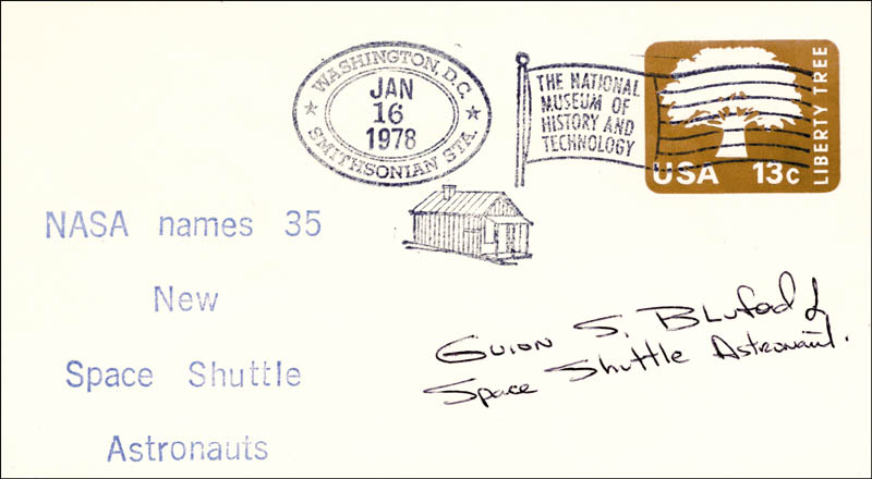 Image 1 for Colonel Guion S. 'Guy' Bluford Jr. - Special Cover Signed - HFSID 156562