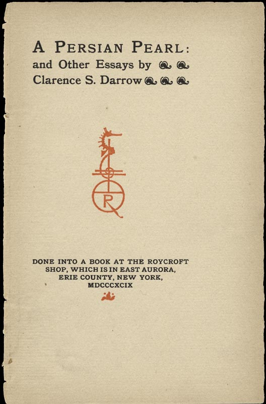 Image 3 for Clarence Darrow - Inscribed Book Page Signed - HFSID 156632
