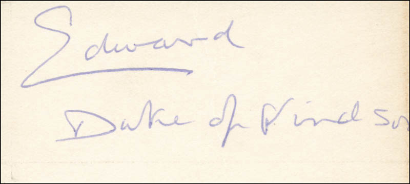 Image 1 for King Edward VIII - Autograph - HFSID 156660