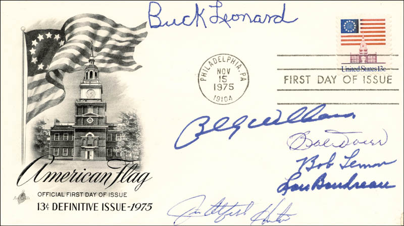 Image 1 for Hall Of Fame Baseball - First Day Cover Signed with co-signers - HFSID 156689