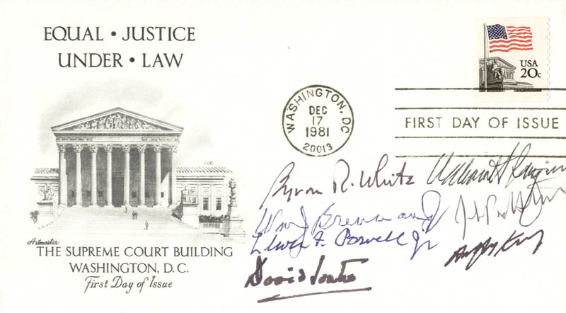 Image 1 for The William H. Rehnquist Court - First Day Cover Signed with co-signers - HFSID 156706