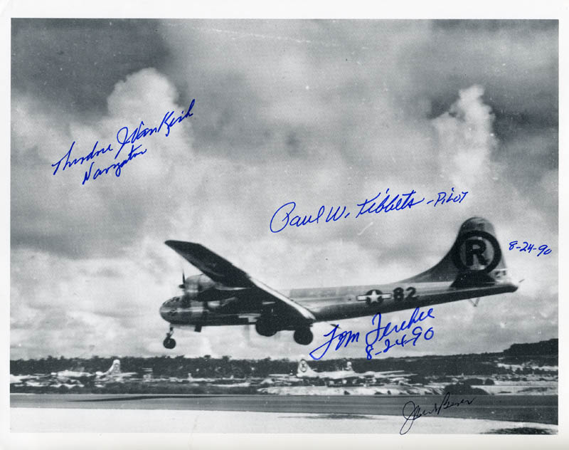 Image 1 for Enola Gay Crew - Autographed Signed Photograph 08/24/1990 with co-signers - HFSID 156809