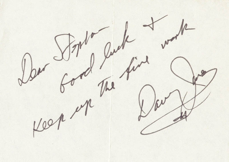 Image 1 for The Monkees (Davy Jones) - Autograph Note Signed - HFSID 156933