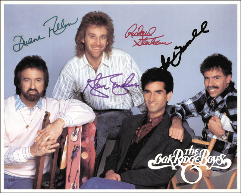Image 1 for Oak Ridge Boys - Autographed Signed Photograph with co-signers - HFSID 157006