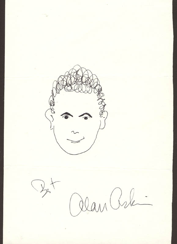 Image 1 for Alan Arkin - Self-caricature Signed - HFSID 15707