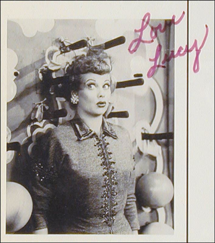 Image 3 for Lucille 'Lucy' Ball - Advertisement Signed - HFSID 157143