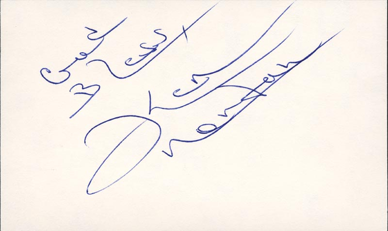 Image 1 for Ken Norton - Autograph Sentiment Signed - HFSID 157303