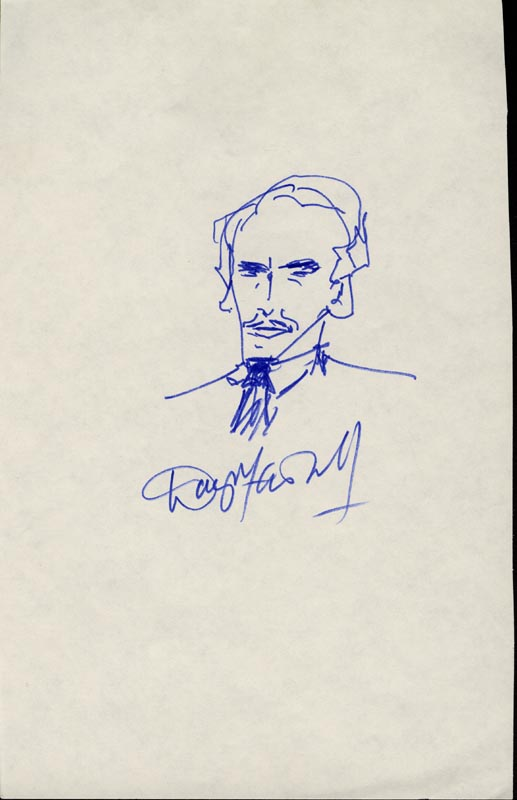Image 1 for Douglas Fairbanks Jr. - Self-caricature Signed - HFSID 15736