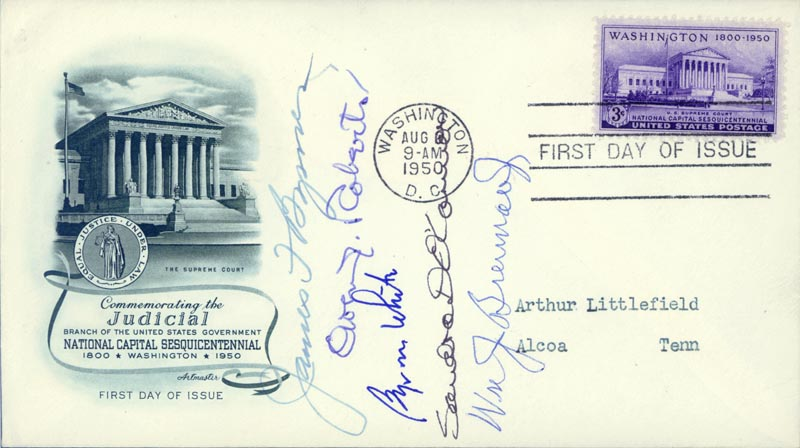 Image 1 for Associate Justice James F. Byrnes - First Day Cover Signed with co-signers - HFSID 157396